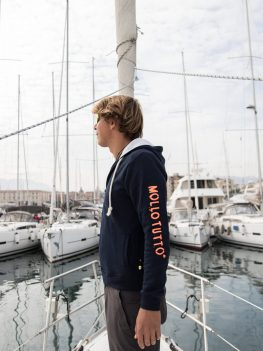 Felpa con zip Mollo Tutto Vivo in Barca (Uomo/donna) invernale