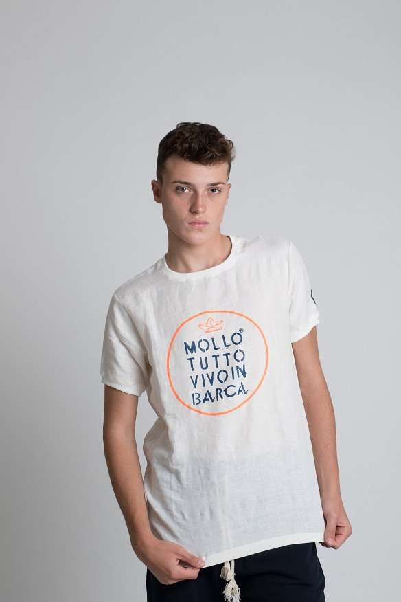 T-shirt uomo fashion 100% Lino