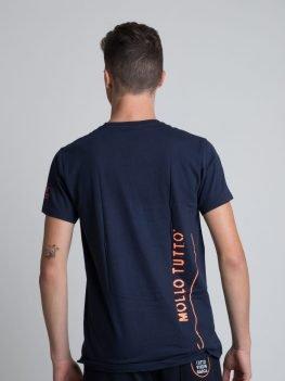 T-shirt uomo girocollo cotone mollo tutto vivo in barca bianco/blu